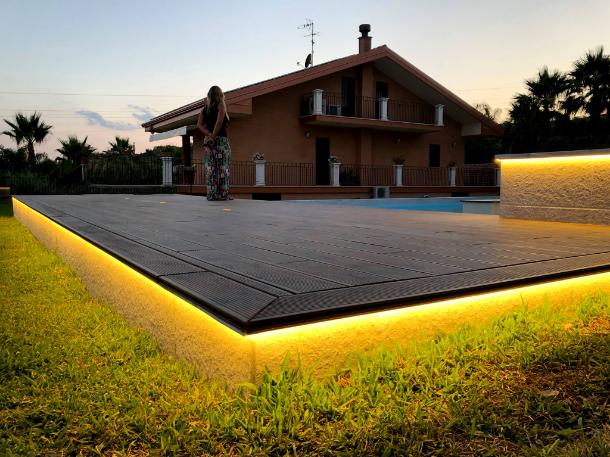 Fornitura illuminazione esterna villa privata b light